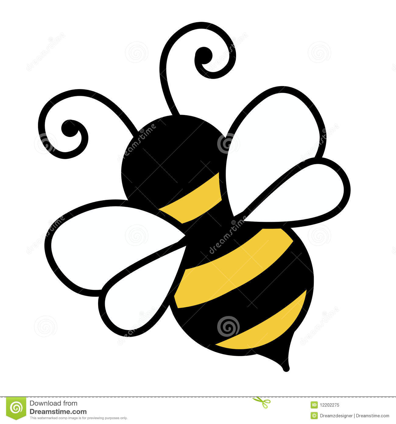 ilustraci u00f3n de la abeja foto de archivo libre de regal u00edas cute honey bee vector cute honey bee vector