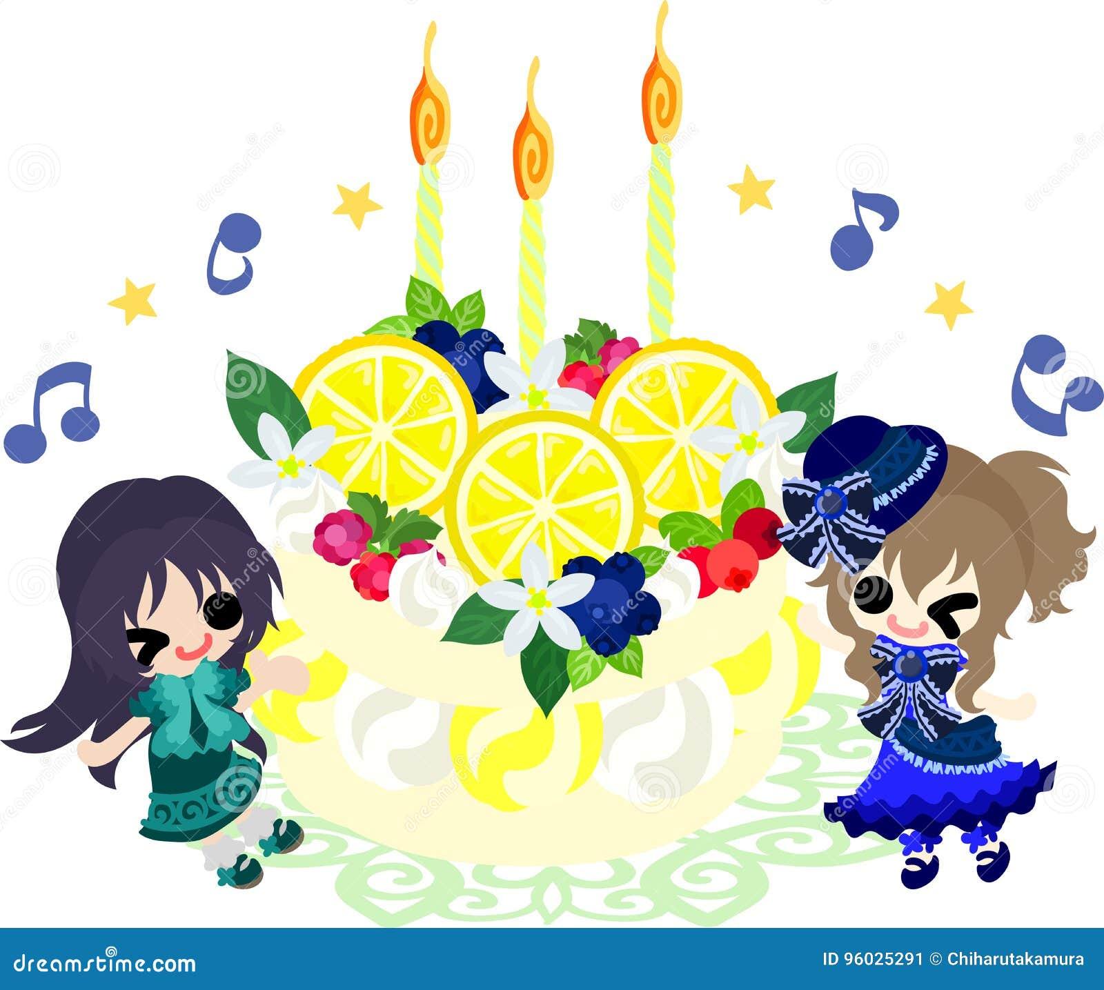 Ilustracja cytryny i dziewczyny