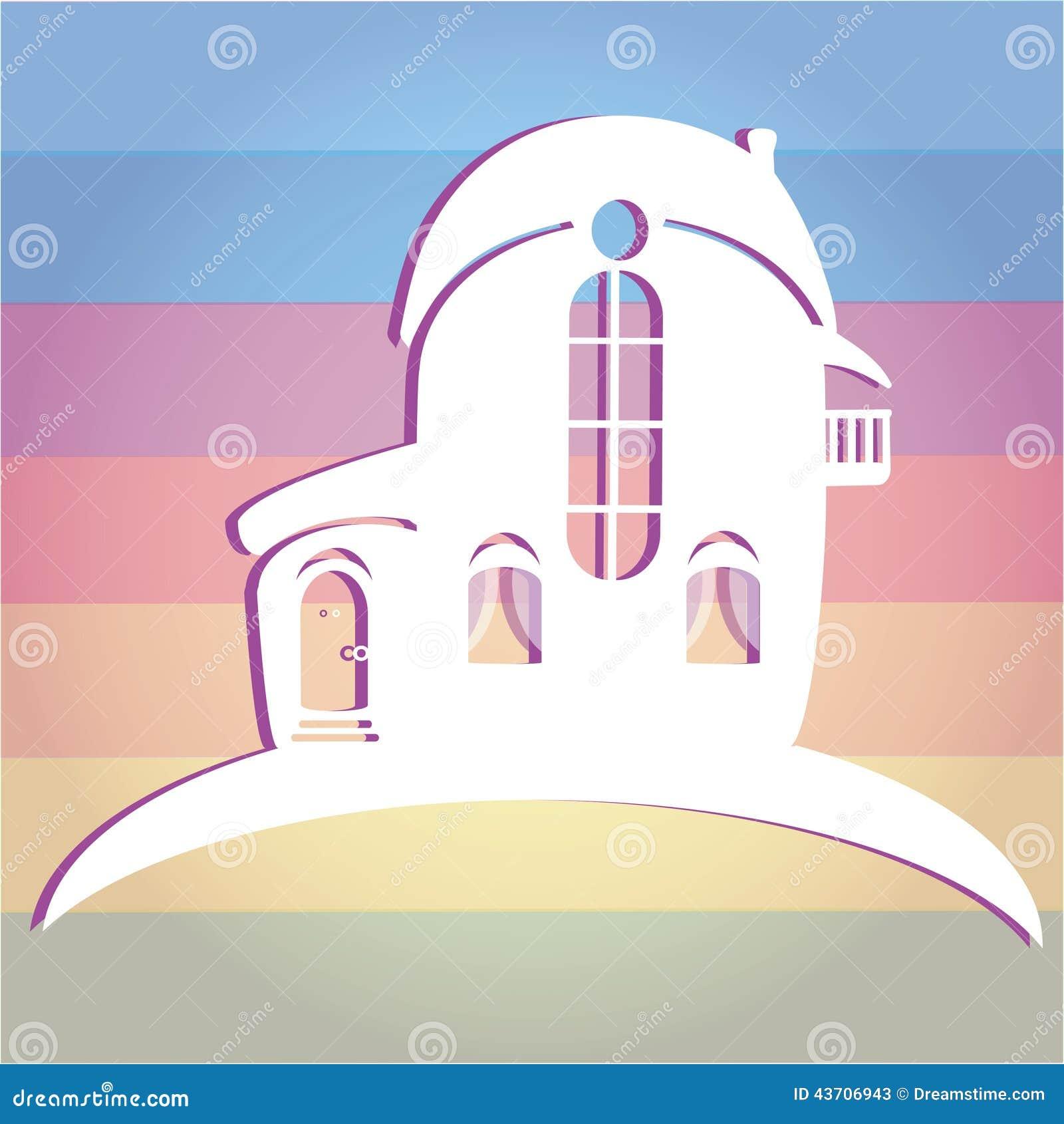 Ilustracja dom na colour tle Może używać jako ikona dom
