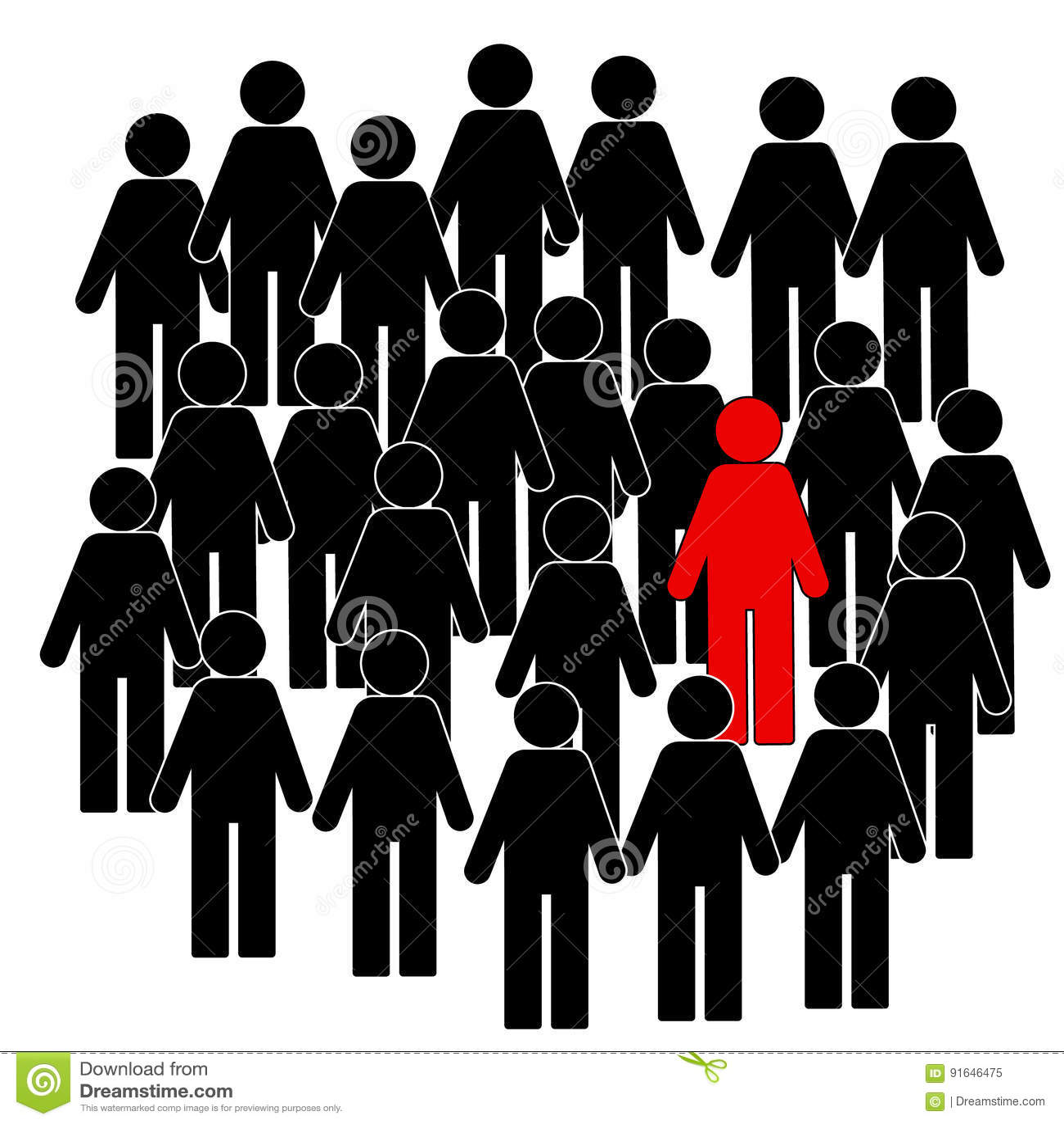 Ilustracja ludzie ikon, myśleć różny, ilustracja