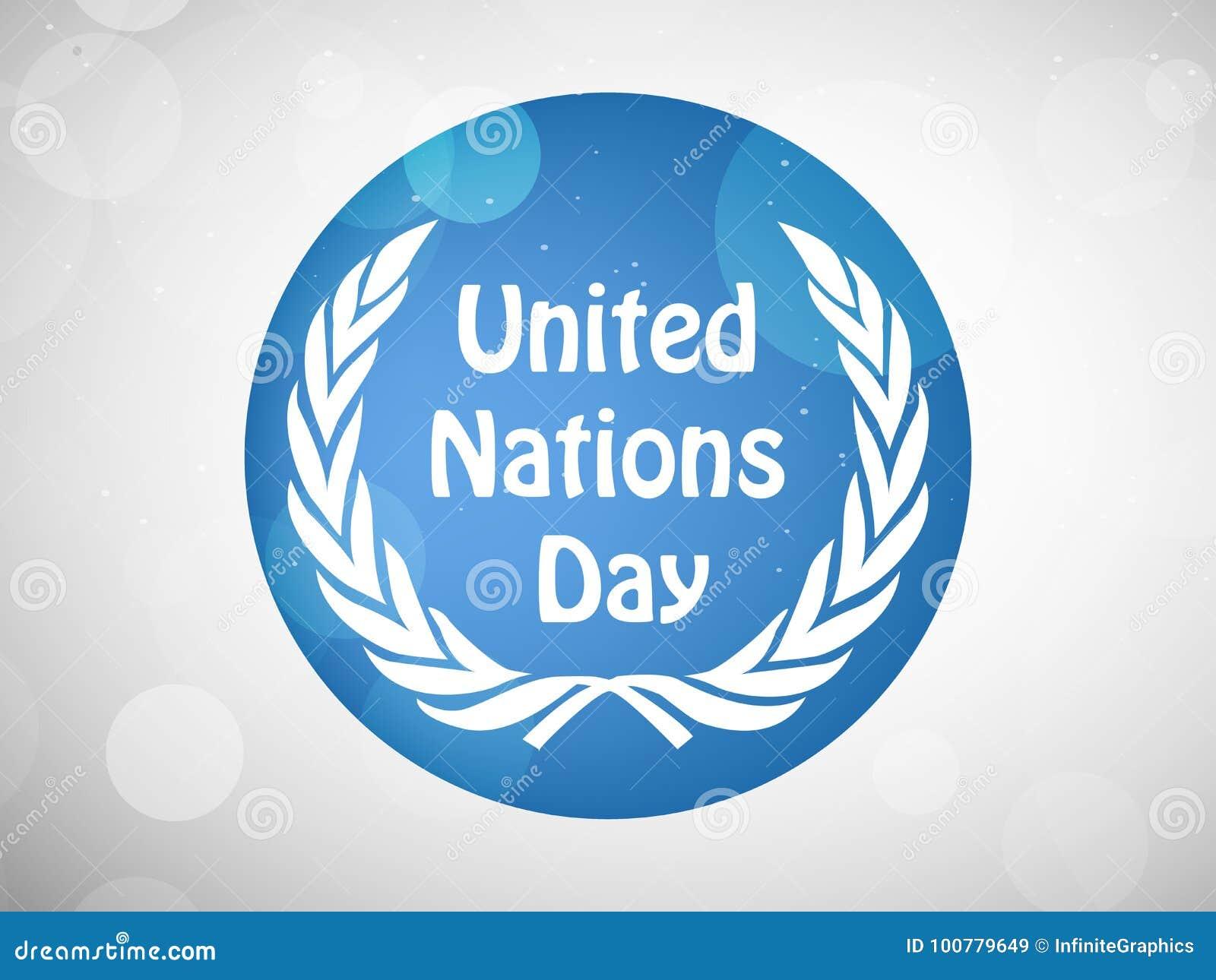 Ilustracja Narody Zjednoczone dnia tło