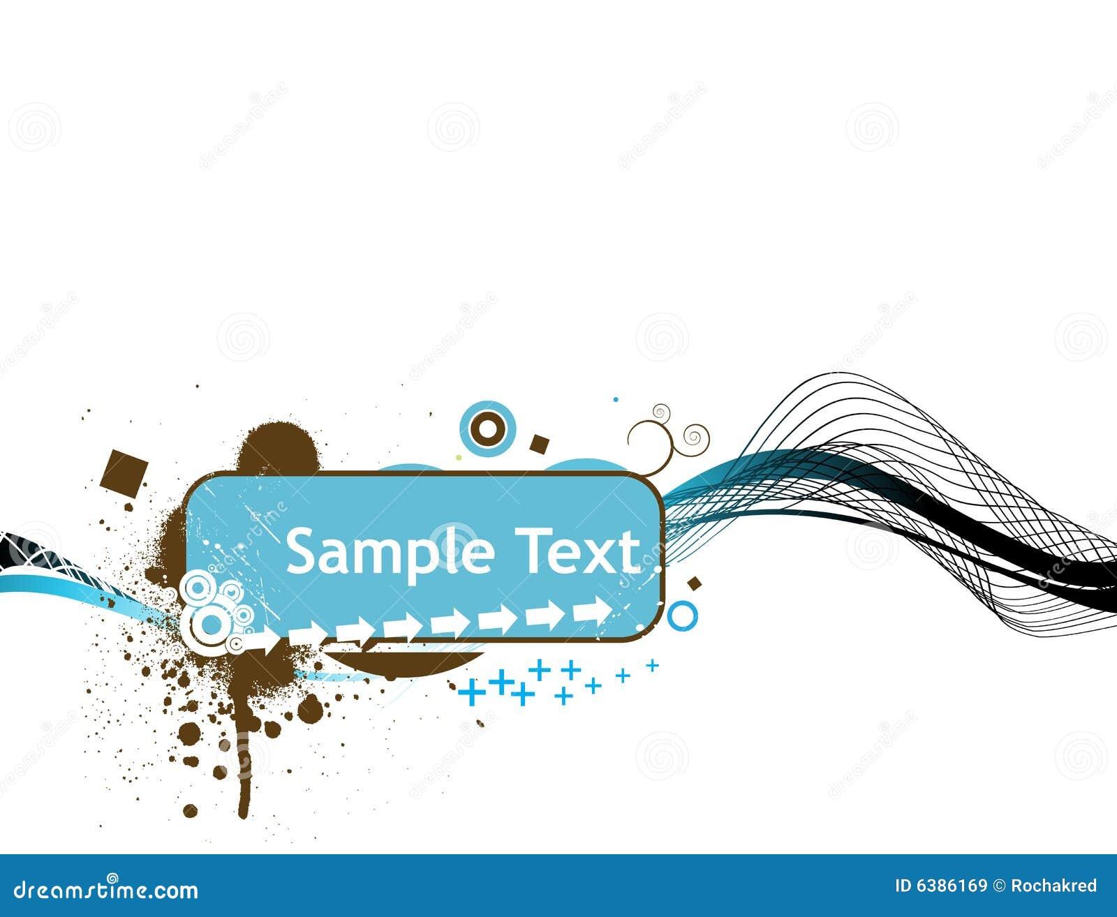 Ilustracja odizolowane linia próbki do tekstu wektora