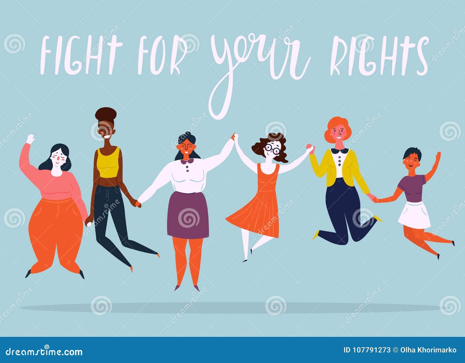Ilustracja różnorodna grupa skokowe kobiety
