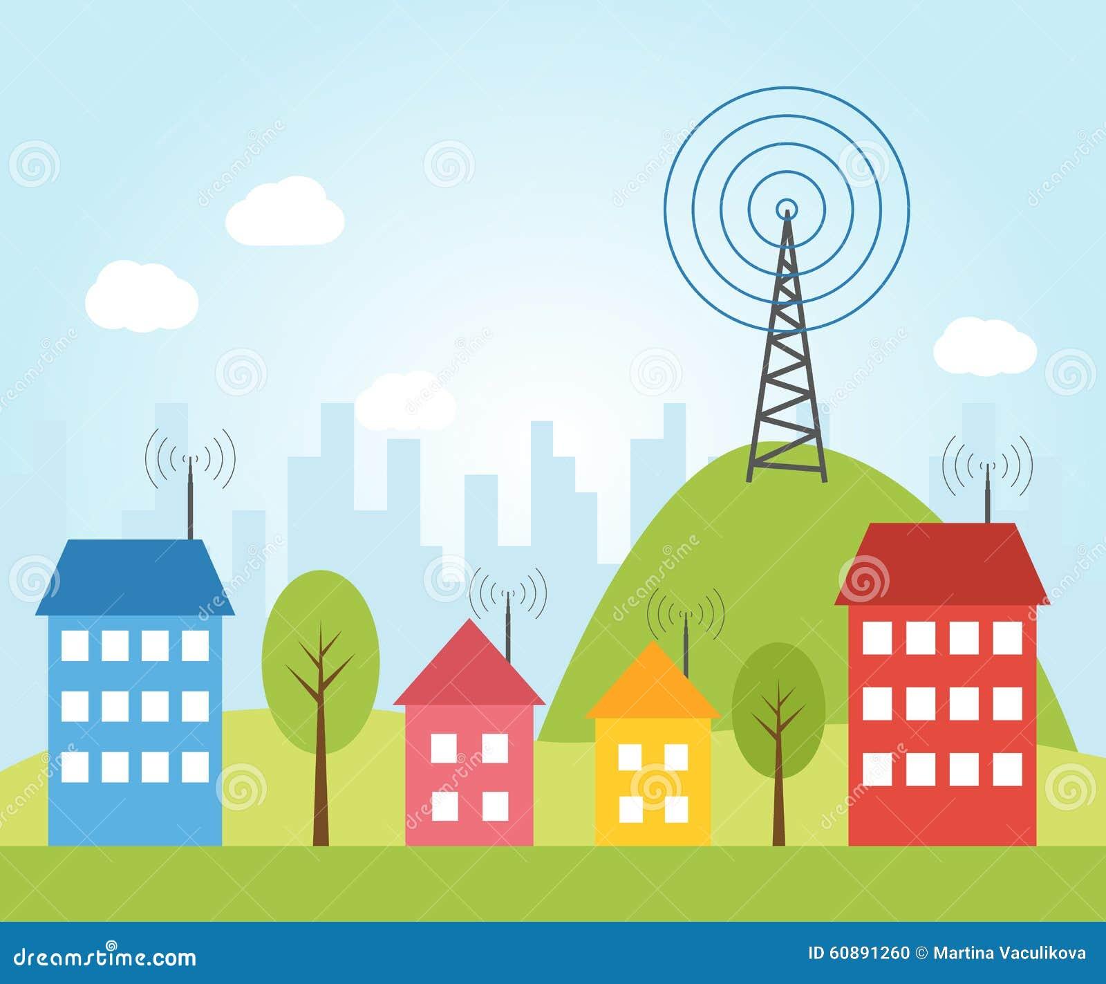 Ilustracja radio sygnał