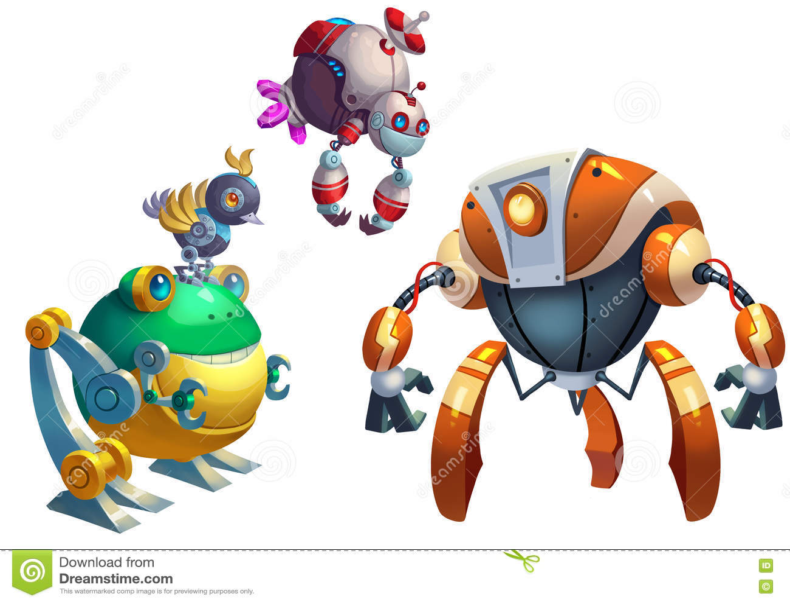 Ilustracja: Robot rywalizacja walka Zaczyna