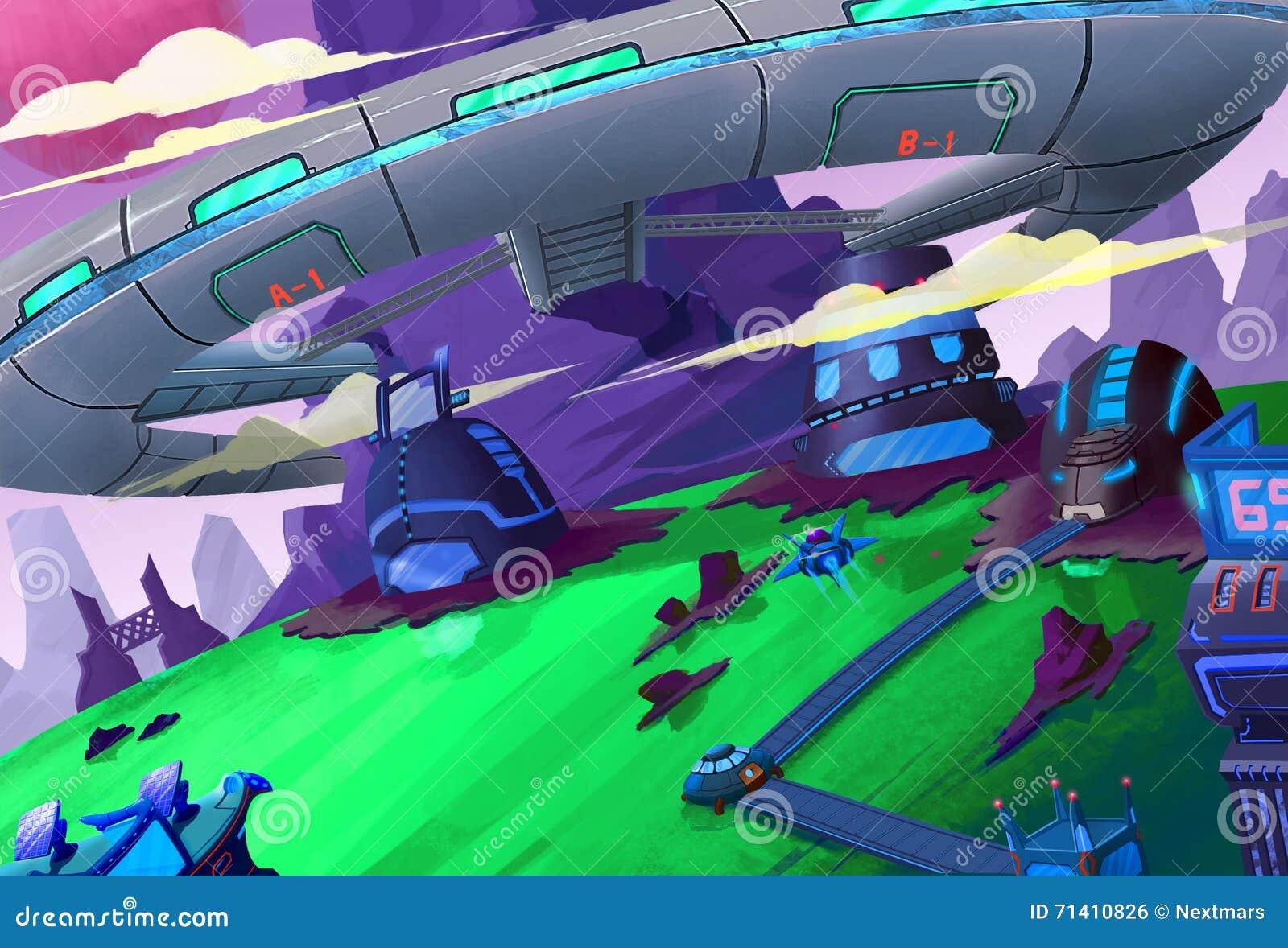 Ilustracja: Tajna stacja kosmiczna budował w górę