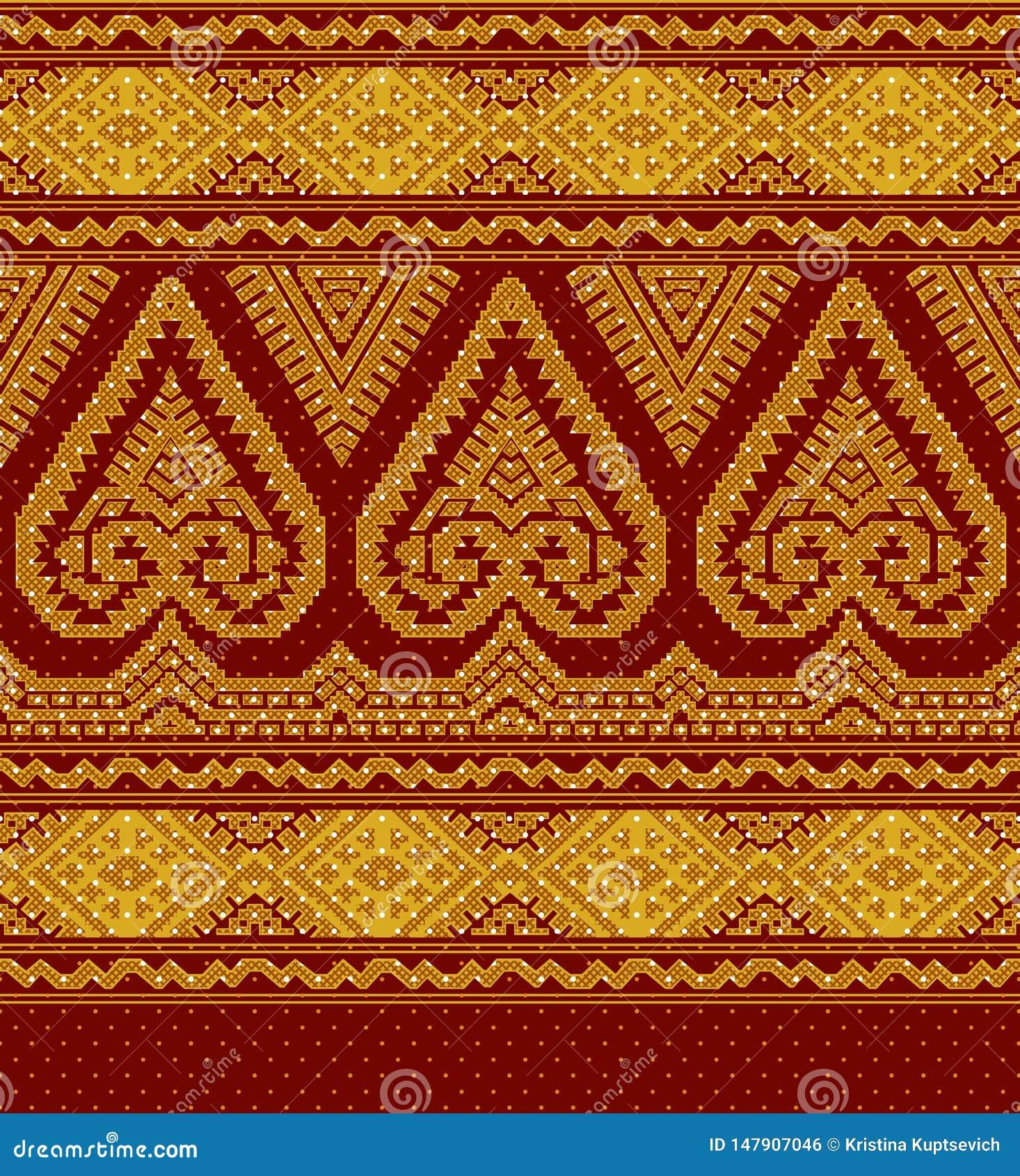Ilustracja tekstylny etniczny ornament