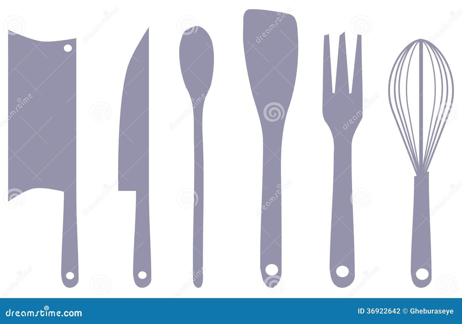 Ilustracja z kuchennym wyposażeniem