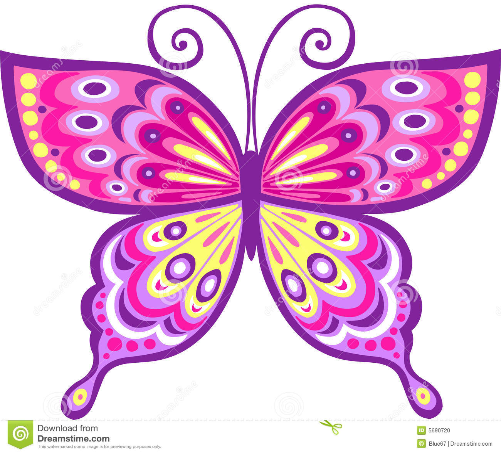 Ilustracji motyla różowe wektora