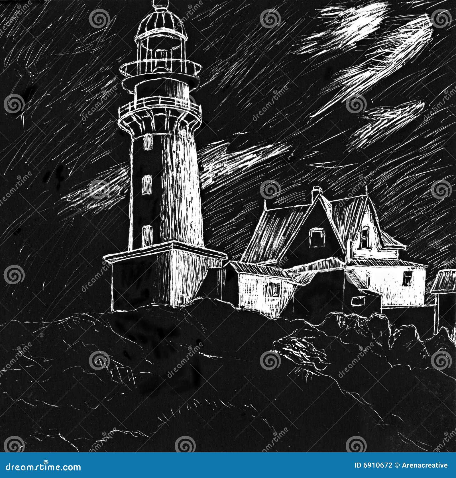 Ilustracyjna latarnia morska