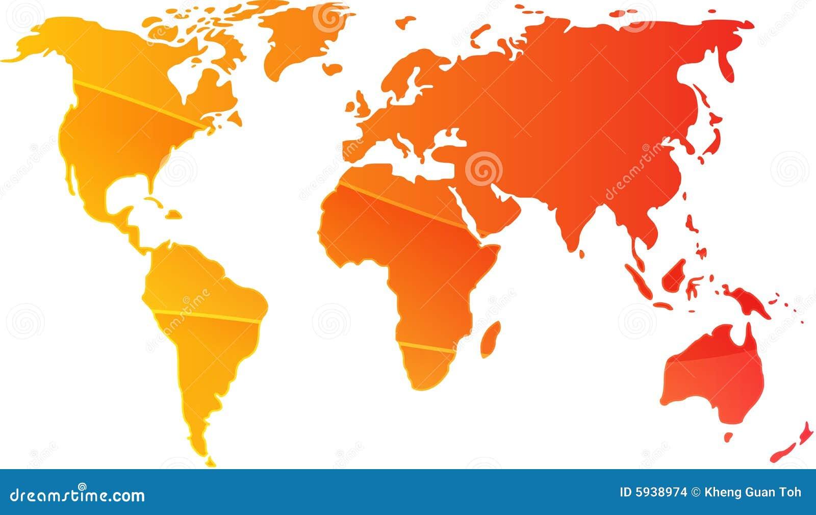 Ilustracyjny mapa świata