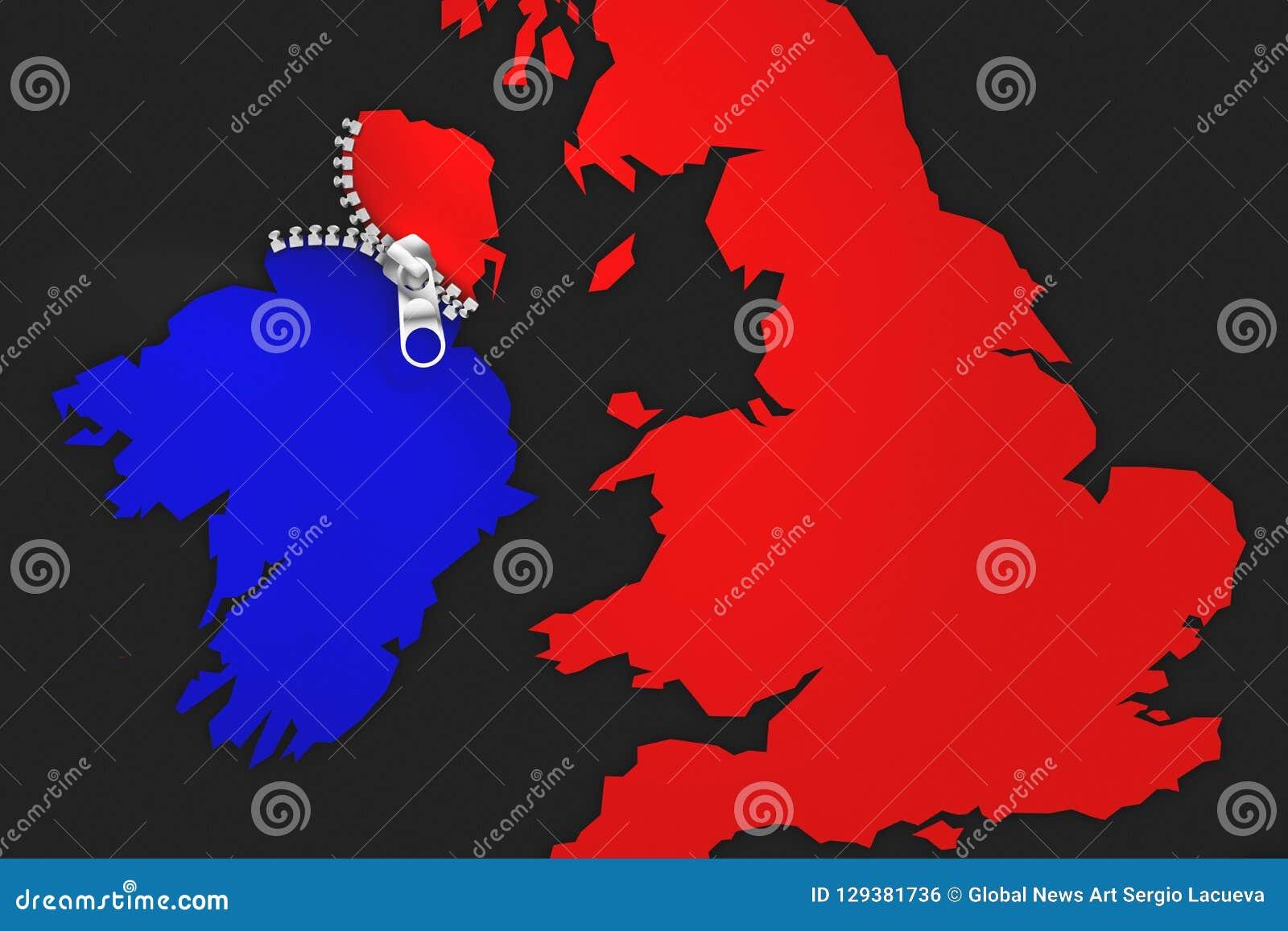Ilustracyjny pomysł dla Irlandia jest Brexit ` u2019s rozwiązywać