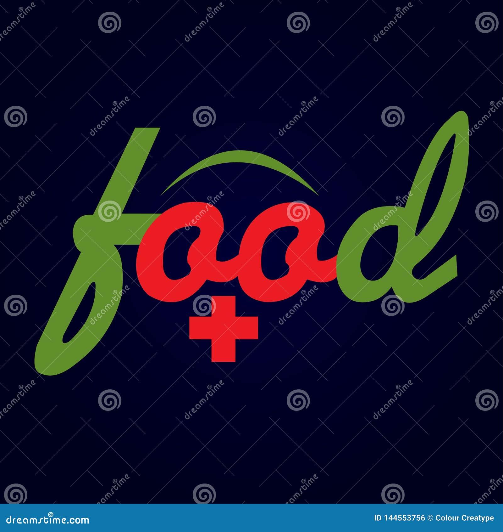 Ilustration схематического дизайна логотипа еды
