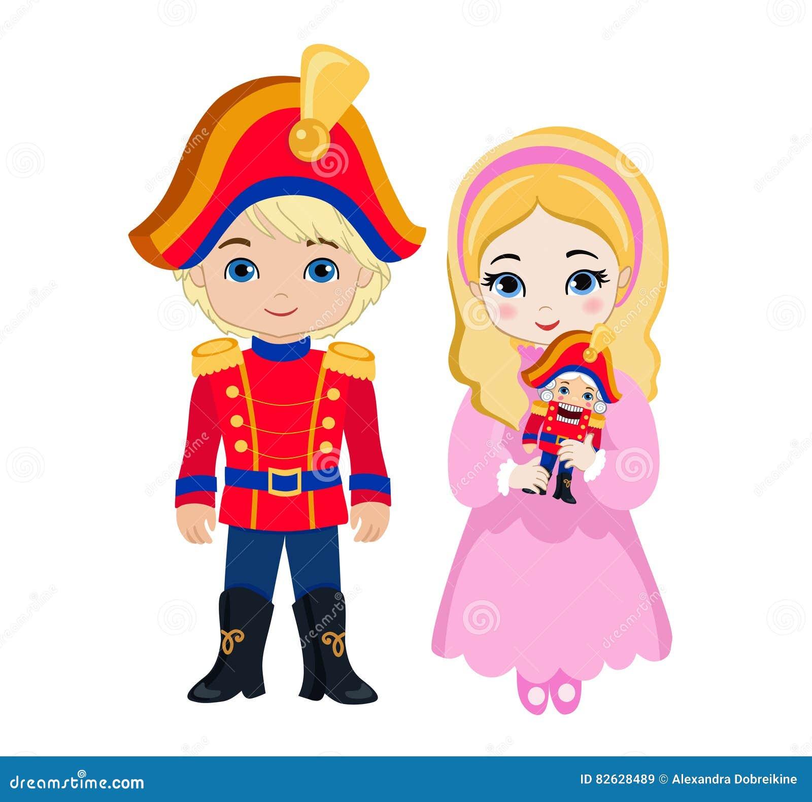ilustra u00e7 u00e3o do pr u00edncipe muito bonito e da princesa que est u00e1 nutcracker ballet clara clipart Clara Nutcracker Clip Art