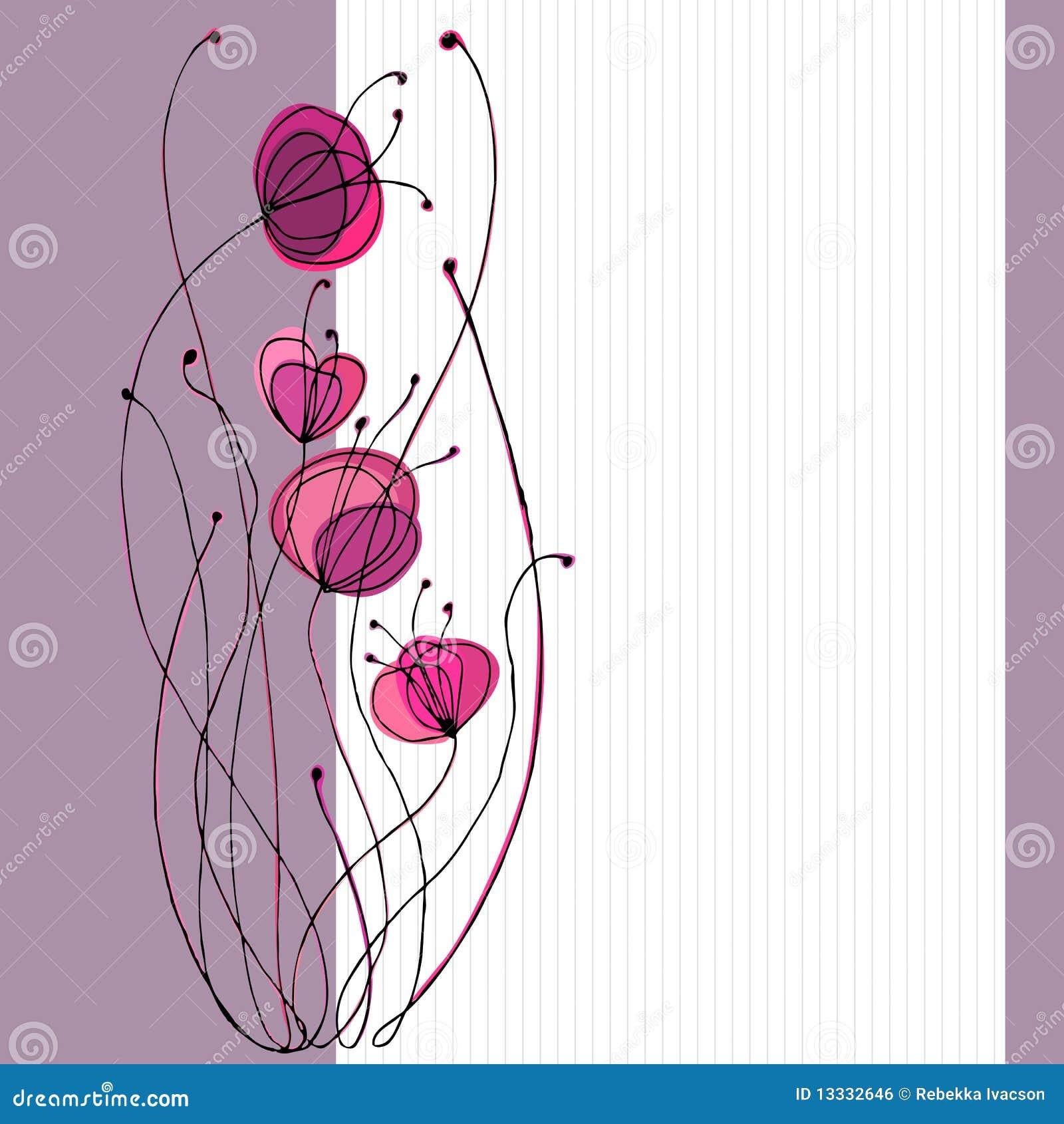 Ilustrujący śliczni kwiaty