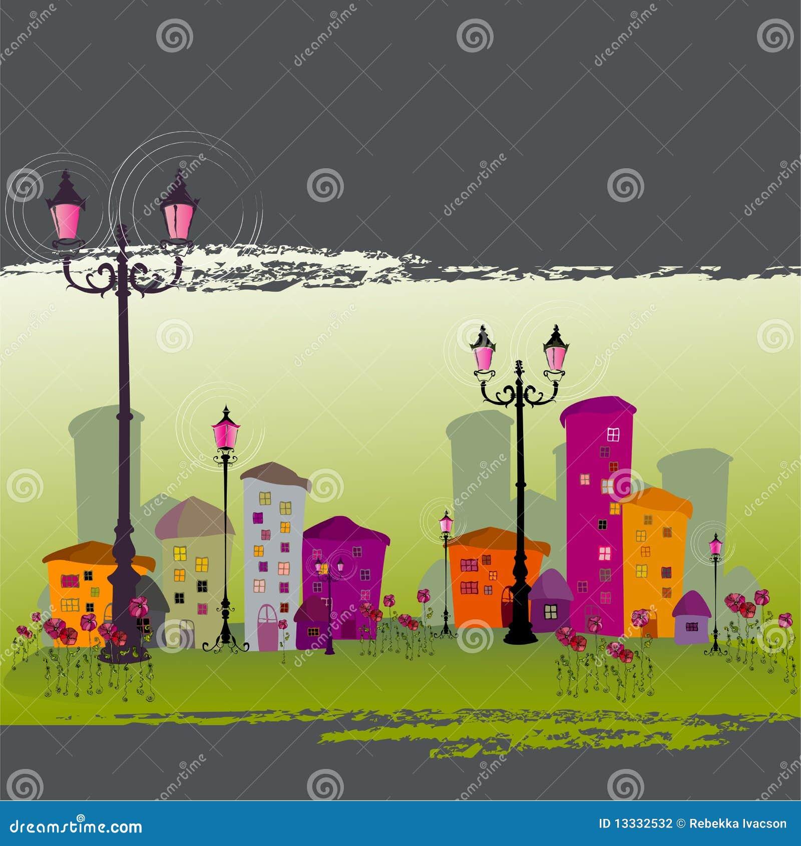 Ilustrujący abstrakcjonistyczny miasto