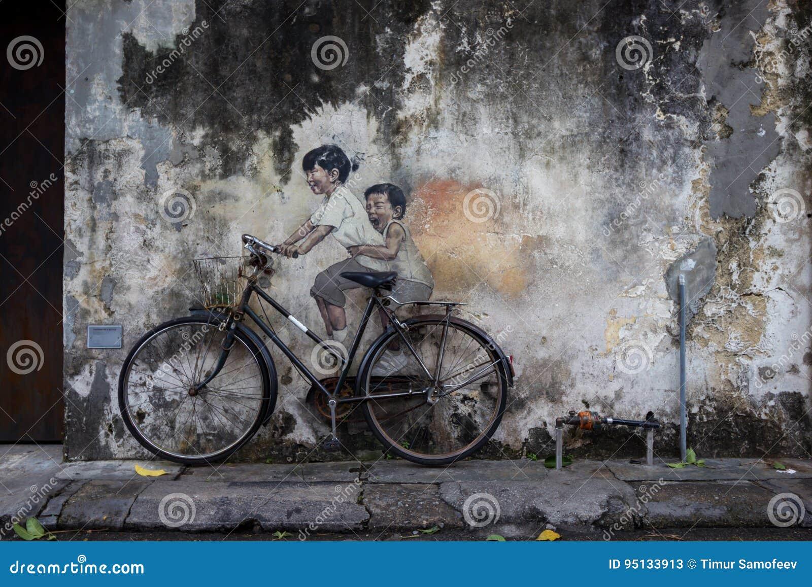 Imágenes de Georgetown Malasia en una pared Penang