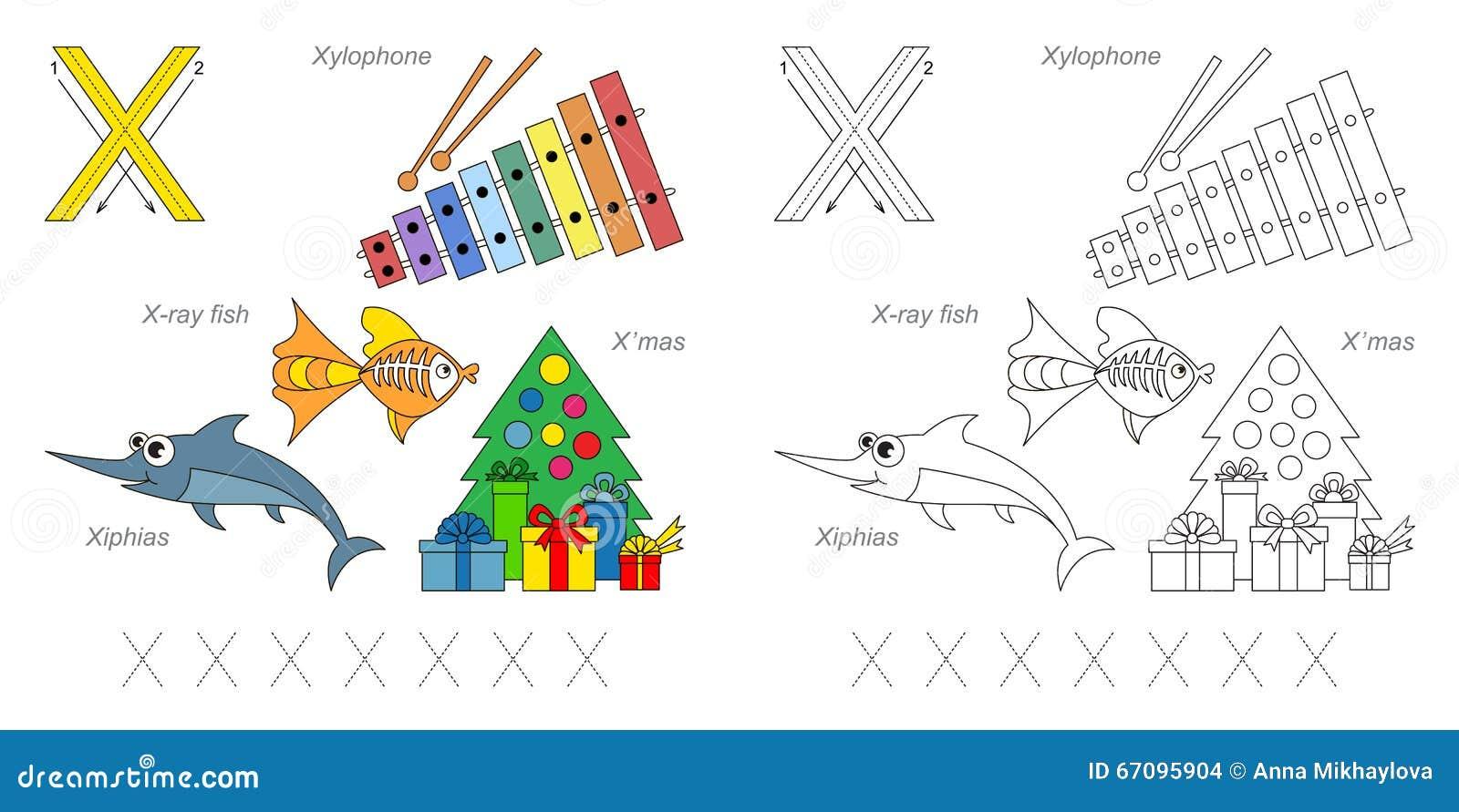 Imágenes Para La Letra X Stock De Ilustración Ilustración
