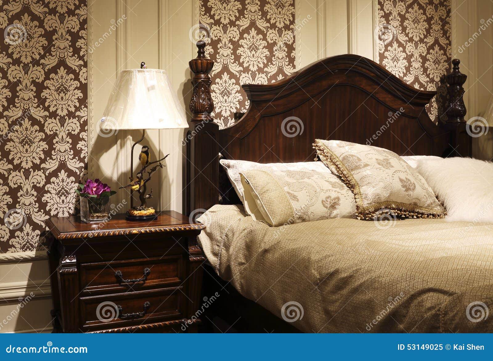 Schon Download Im Amerikanischen Stil Schlafzimmer Verzieren Stockbild   Bild Von  Fach, Blume: 53149025