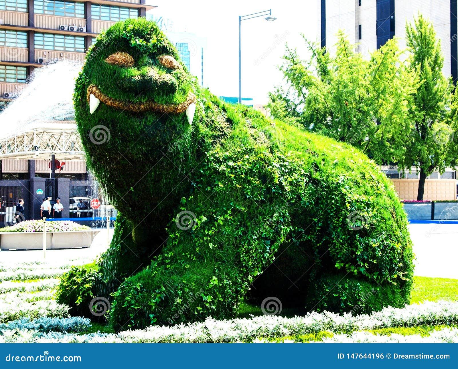 Im August 2009 wurde es in Gwanghwamun-Piazza, in der Wasser auf Haitai-Topiary besprühte, ein Symbol des Seouls Metropolita erne