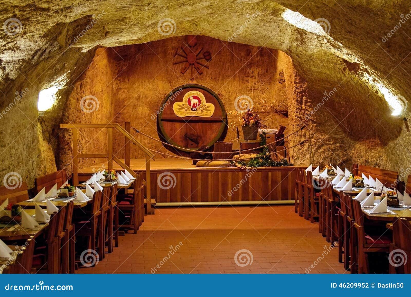 Im Felsen Restaurant Chodova Plana Tschechische Republik Redaktionelles Stockfotografie Bild Von Brauerei Felsen 46209952