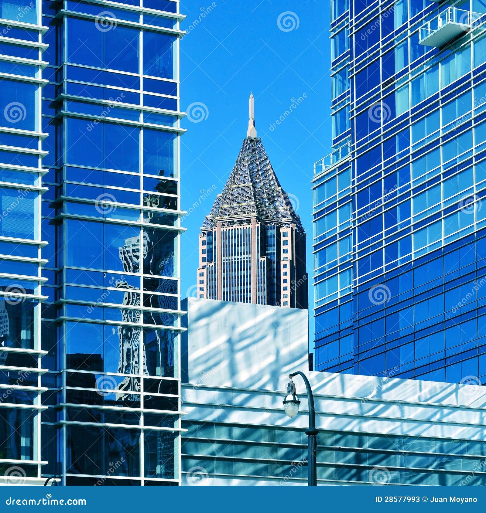 Im Stadtzentrum gelegenes Atlanta, Vereinigte Staaten
