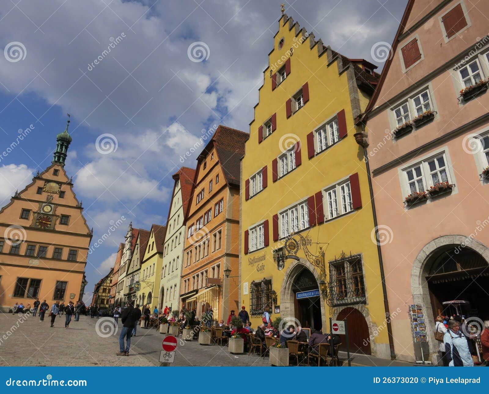 Im Stadtzentrum gelegenes Rothenburg ob der Tauber