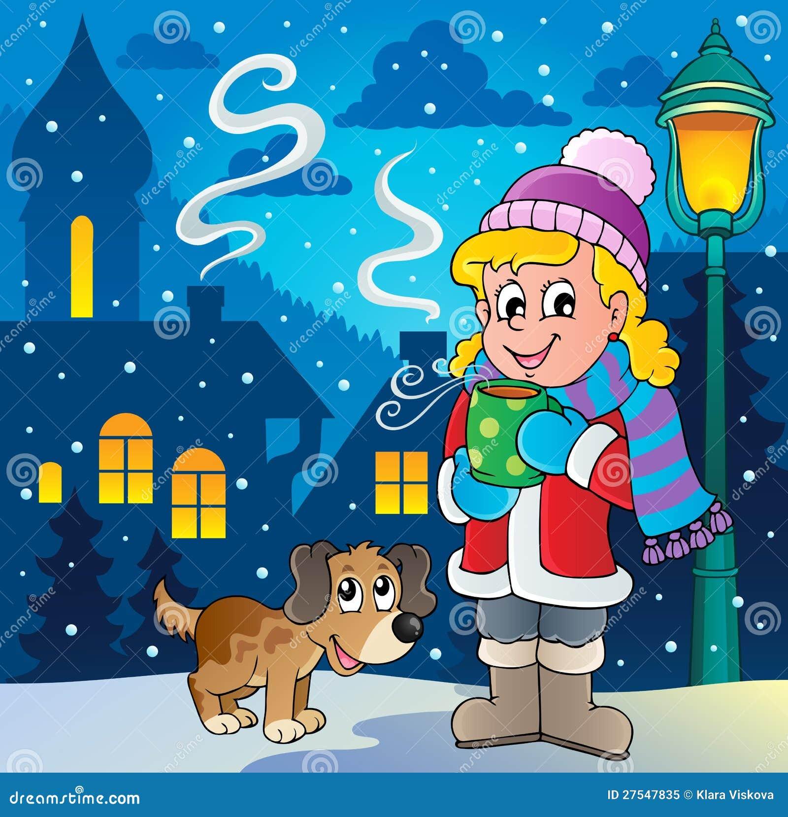 Image 2 de dessin anim de personne de l 39 hiver illustration de vecteur illustration du chapeau - Dessin de l hiver ...