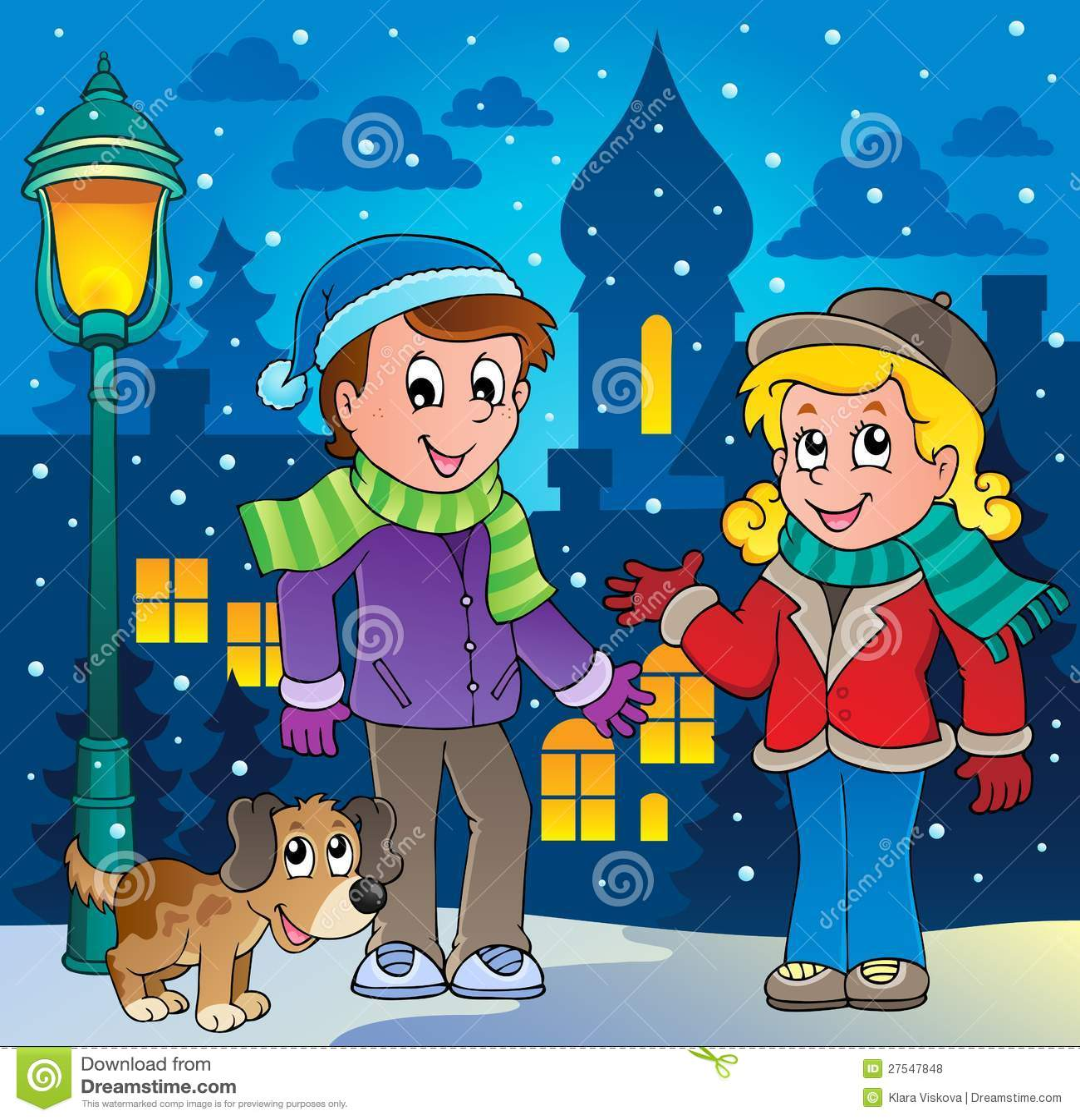 Image 3 de dessin anim de personne de l 39 hiver illustration de vecteur illustration du fille - Dessin de l hiver ...