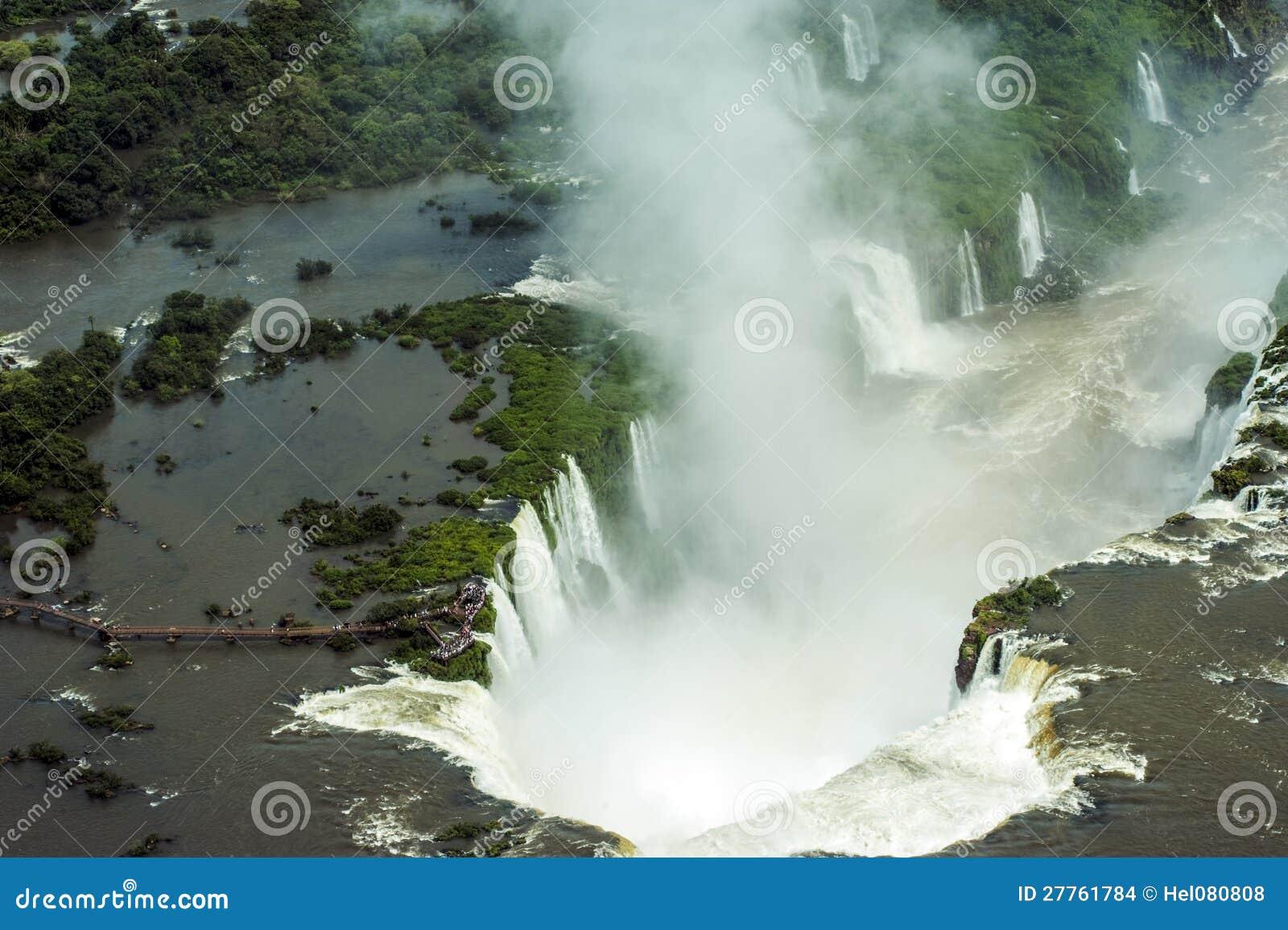 Image aérienne d Iguazu Falls, Argentine, Brésil