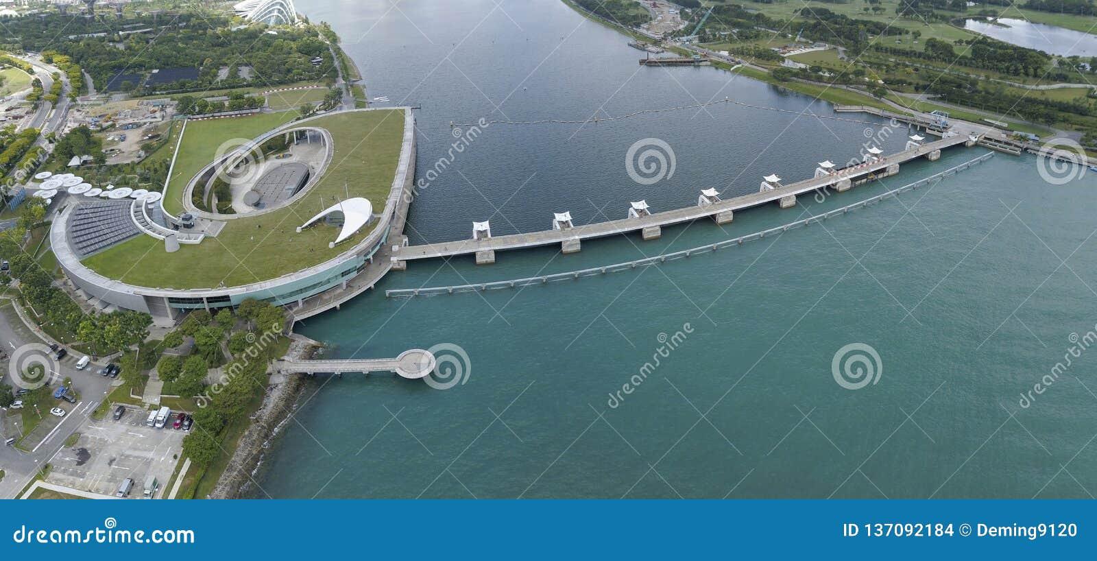 Image aérienne de Marina Barrage