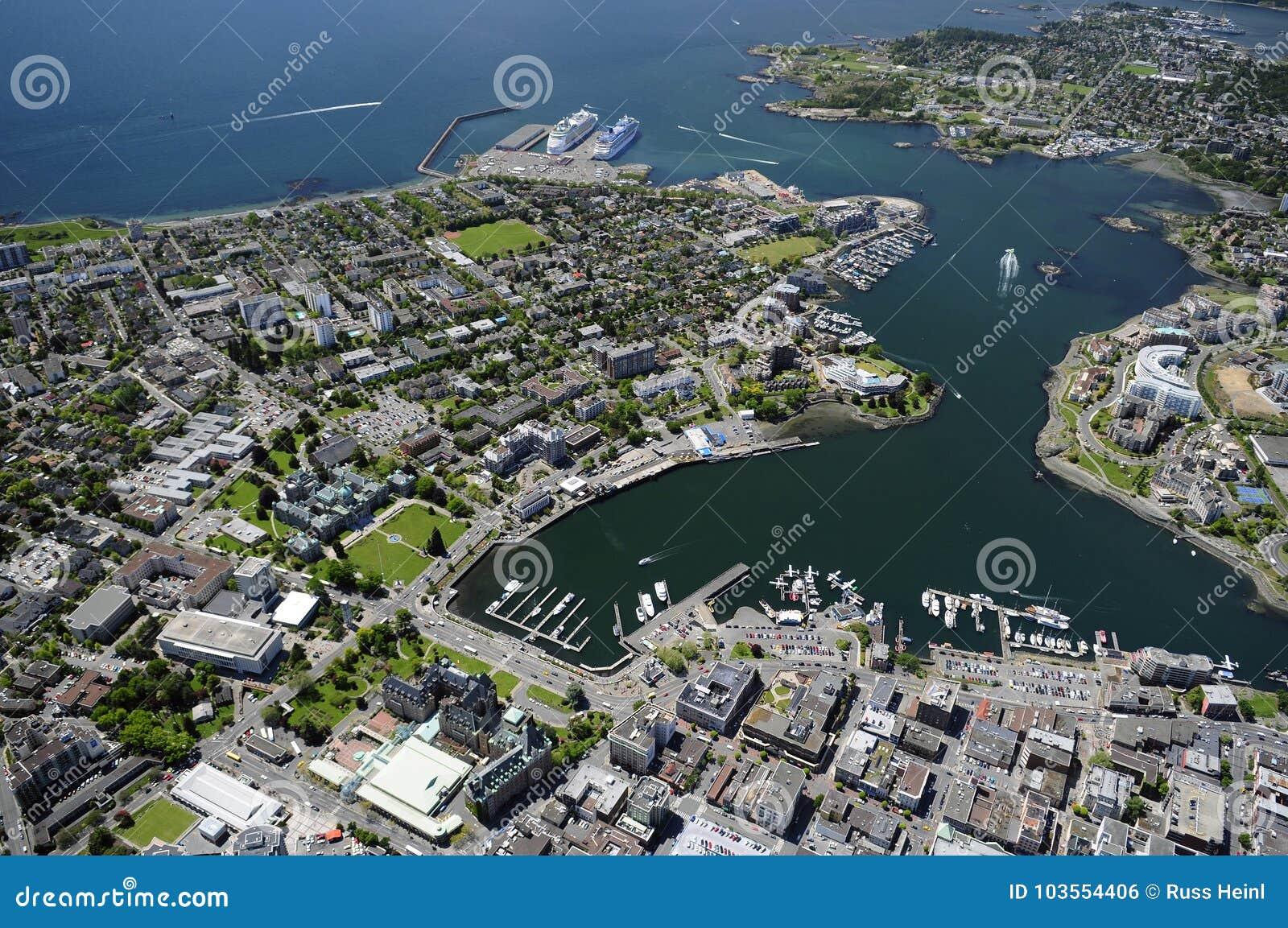 Image aérienne de Victoria, AVANT JÉSUS CHRIST, Canada