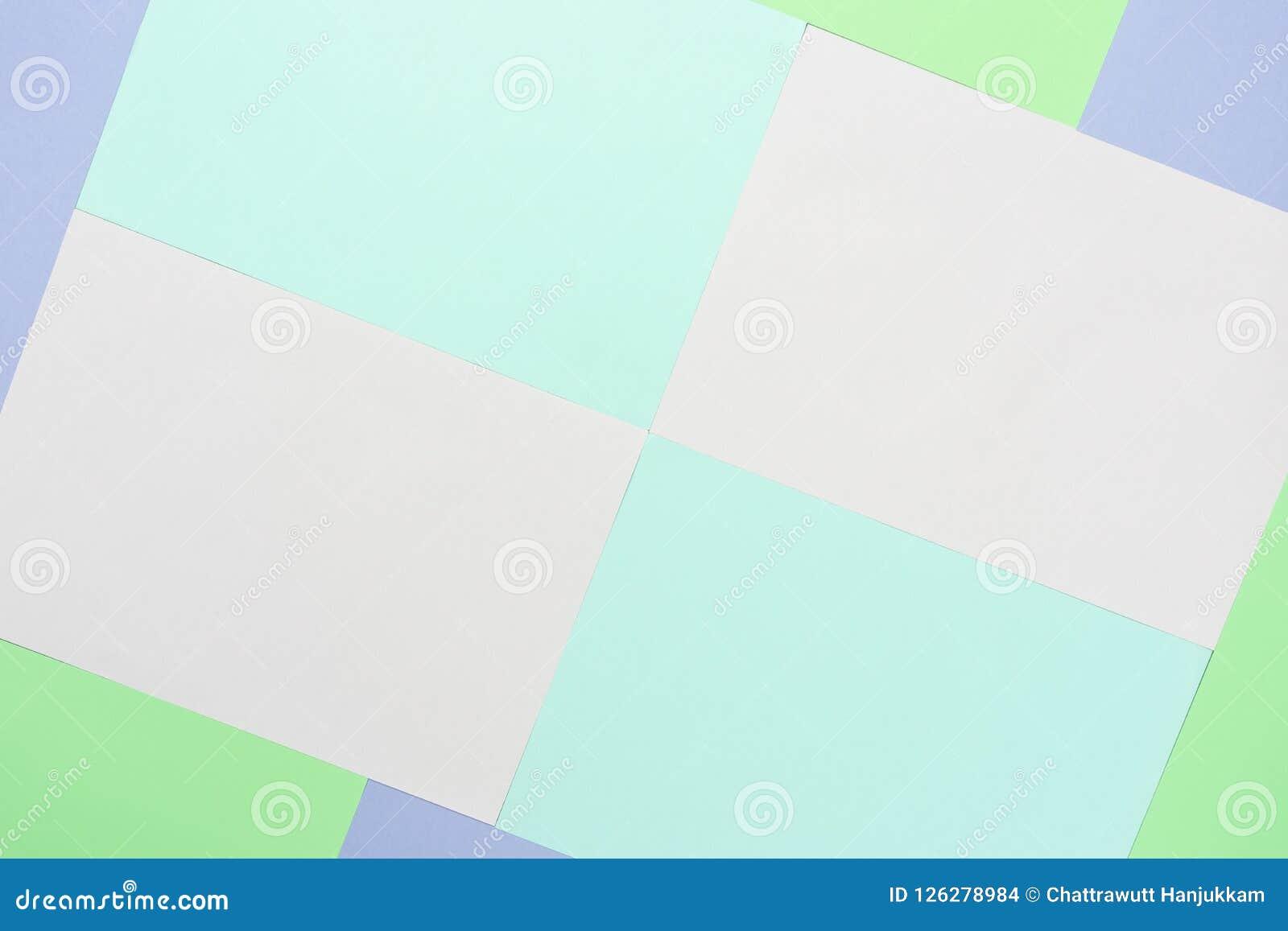 Image aérienne de vue supérieure de Tableau de concept de papier en pastel coloré de fond