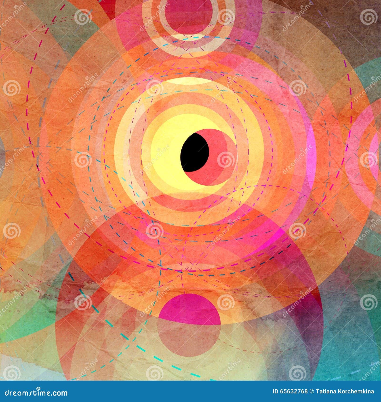 Image abstraite colorée