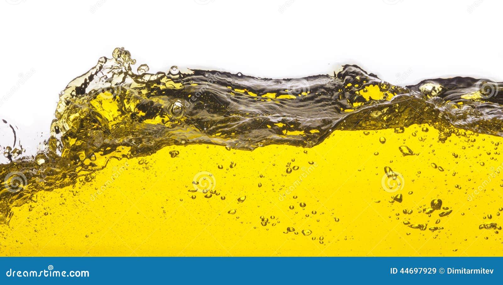 Image abstraite d un liquide jaune renversé