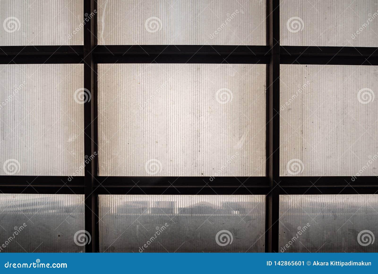 Image abstraite de vue inférieure de toit translucide