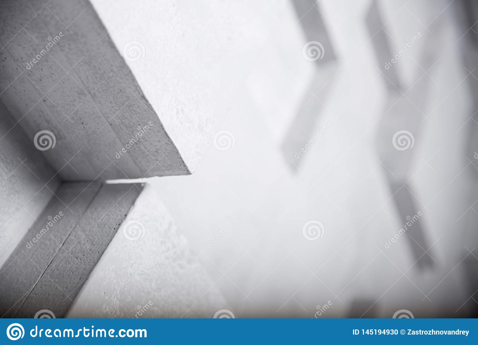Image abstraite du fond blanc de cubes, foyer sélectif