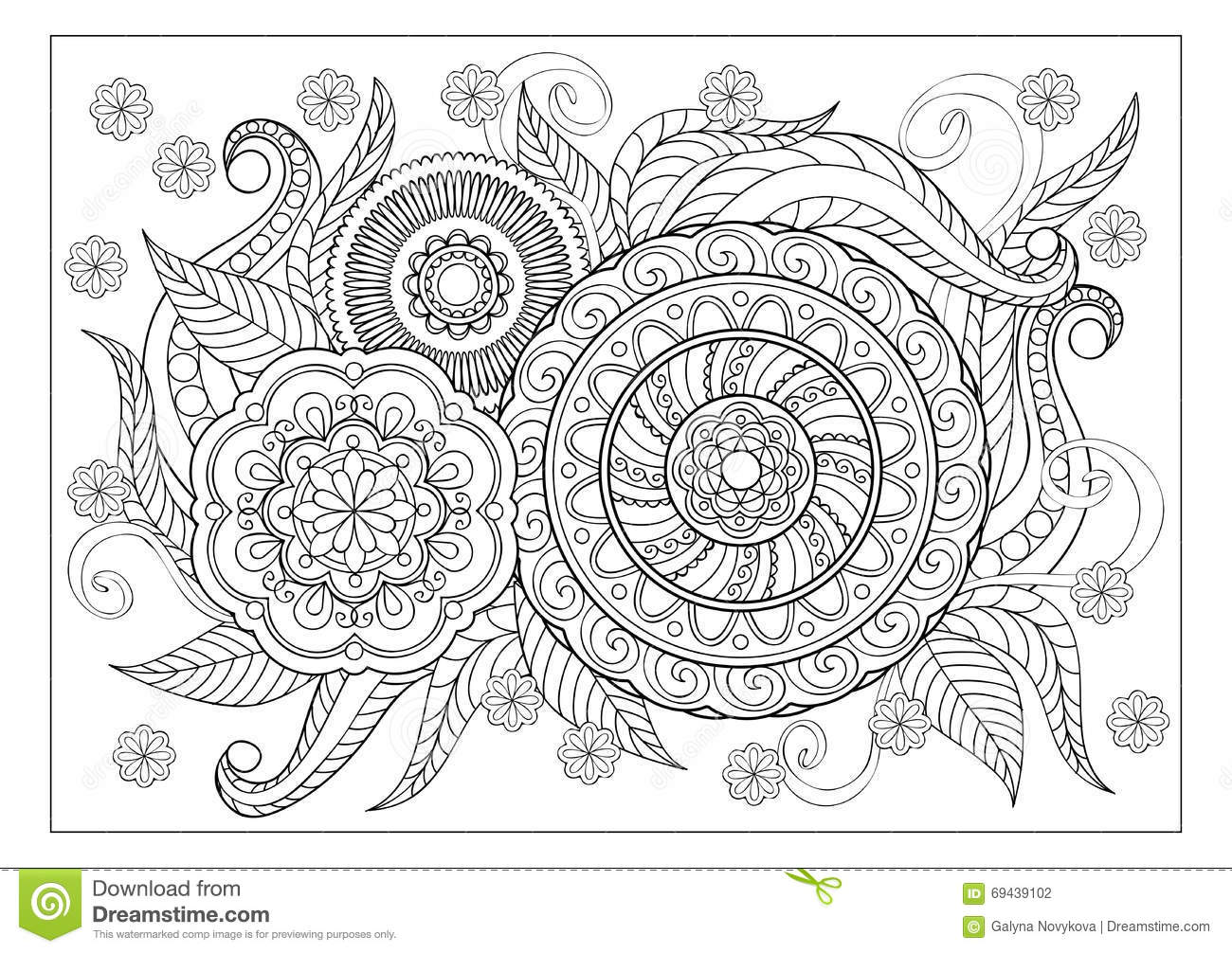 Image For Adult Coloring Page Stock