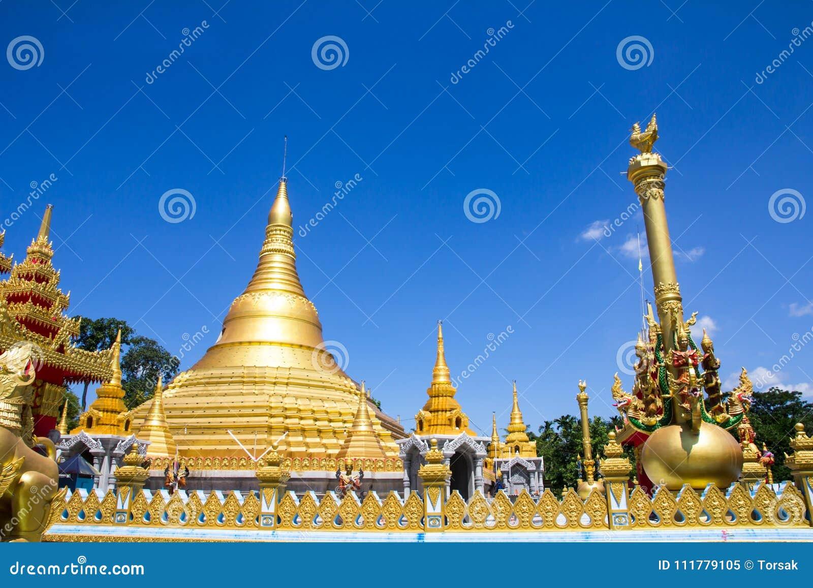 Beautiful pagoda in temple