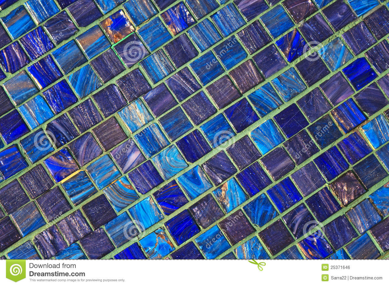 Blue ceramic tile