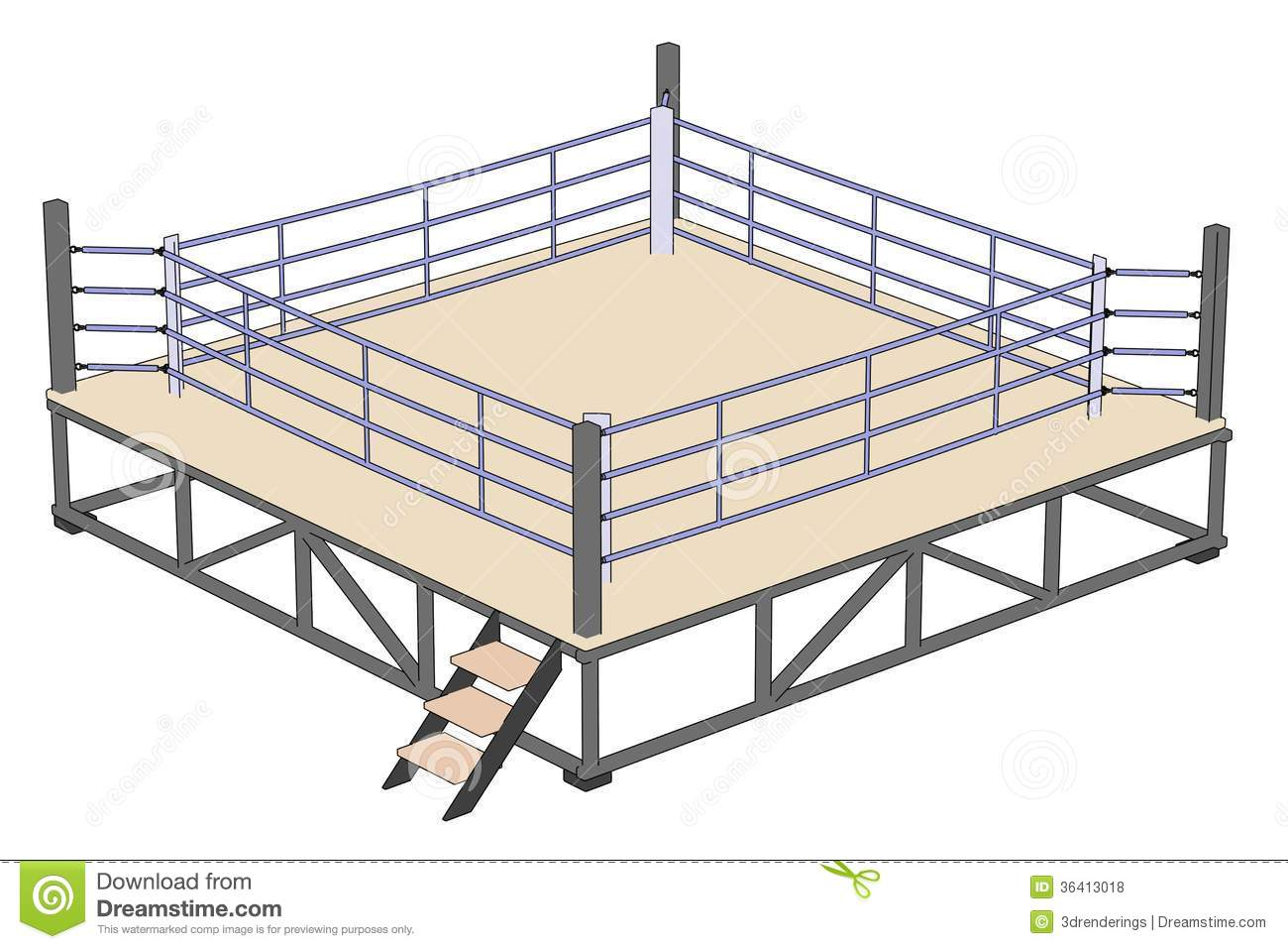 Wrestling Ring Drawing