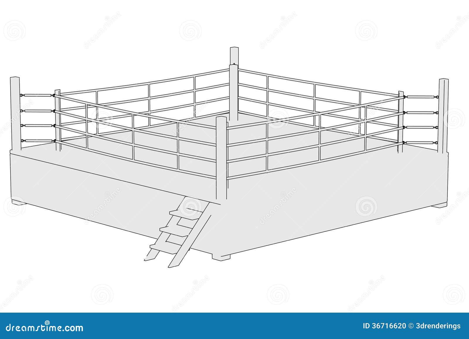 Image of boxing ring stock illustration illustration of fighter image of boxing ring ccuart Images