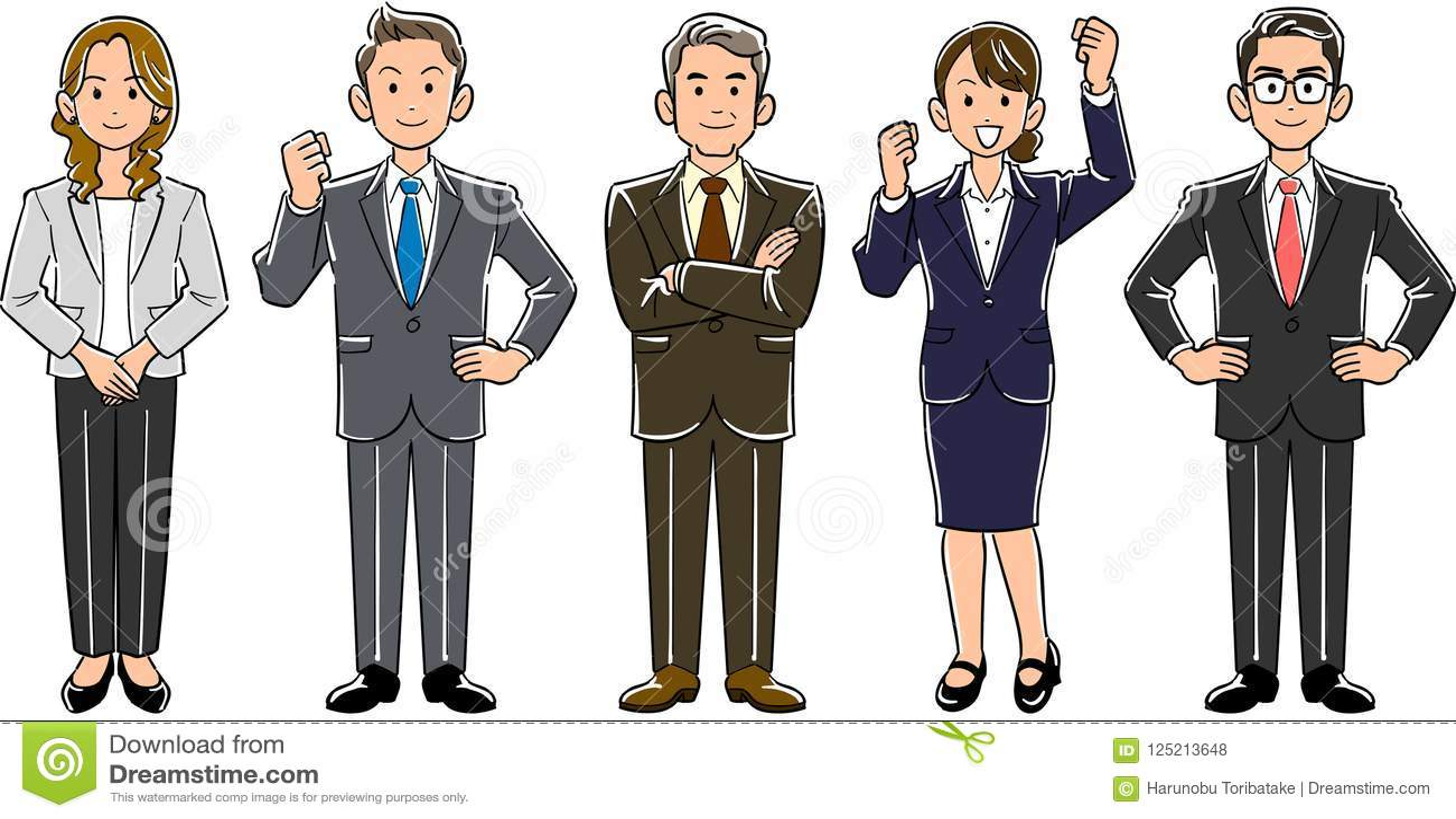 Business team men and women