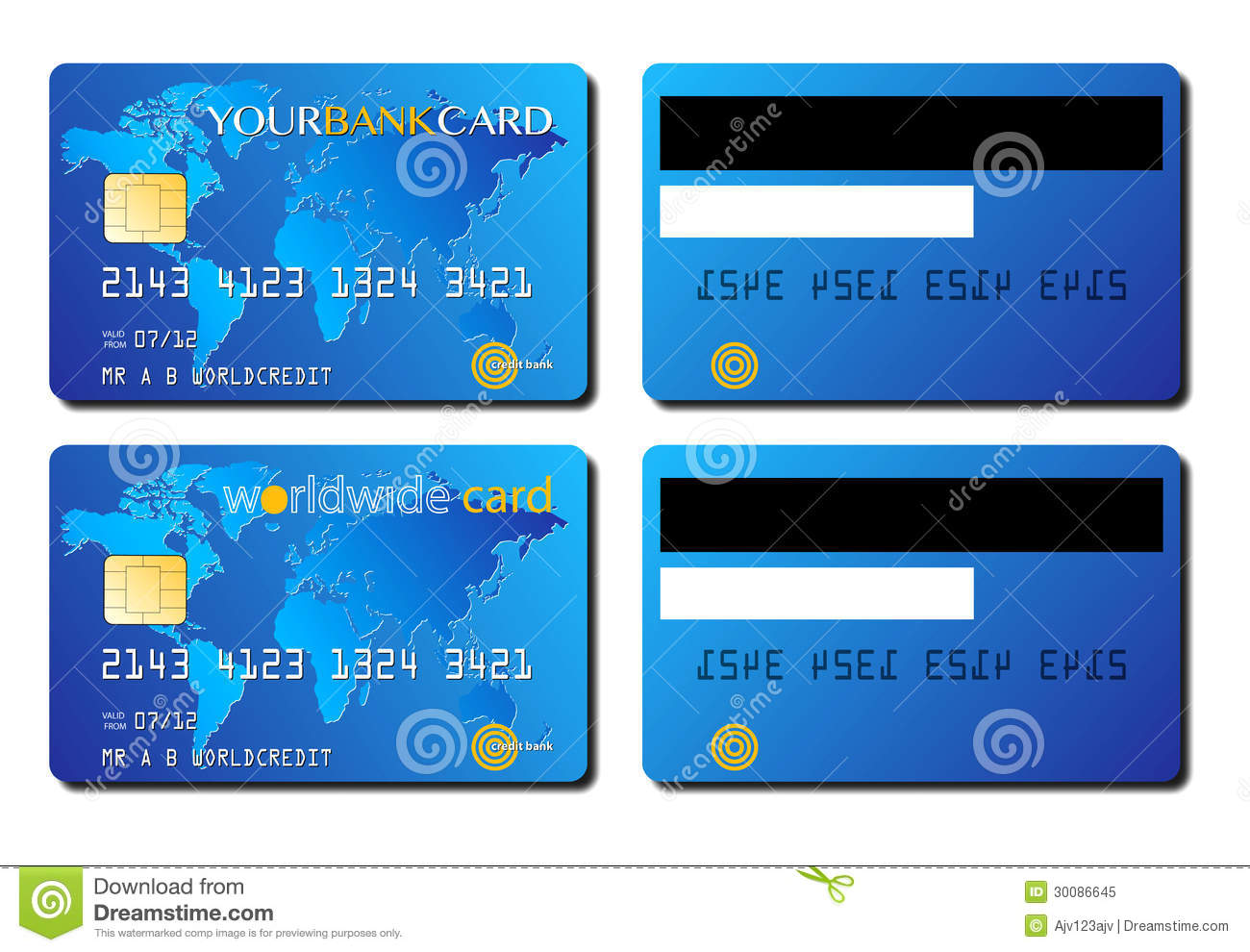 credit card concept - Free Visa Credit Card Numbers That Work