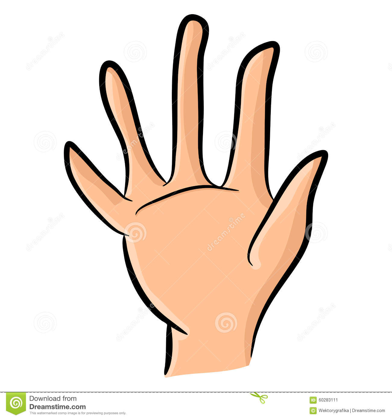 how to draw palm hand