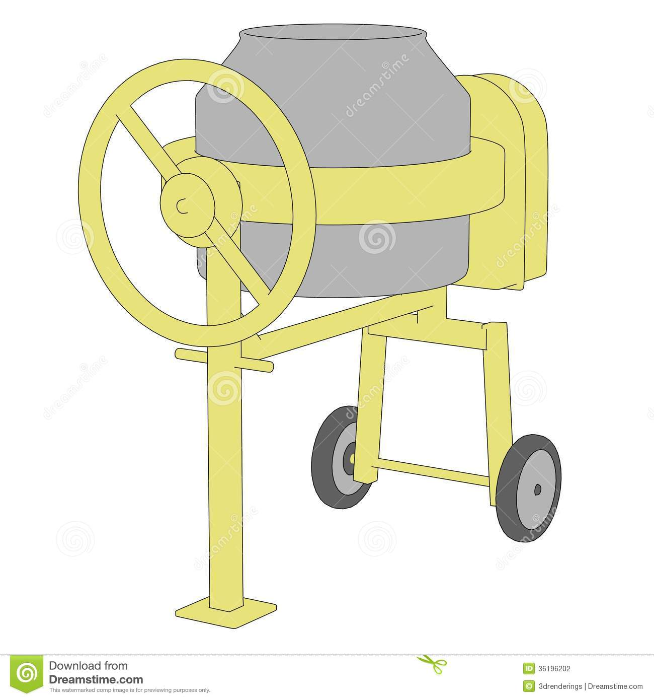 Concrete Mixing Animation : Image of cement mixer stock photography