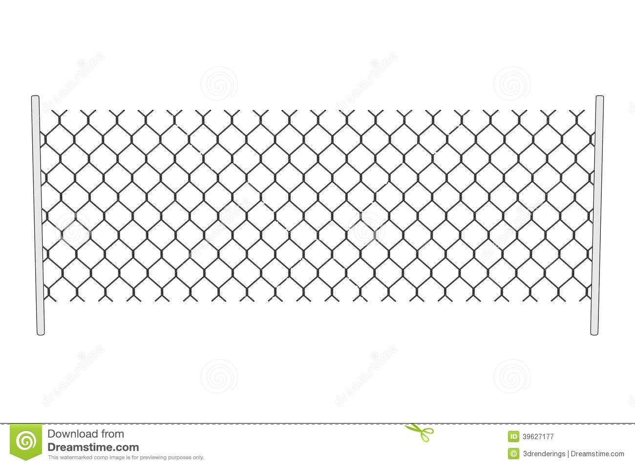 Image of chain fence stock illustration