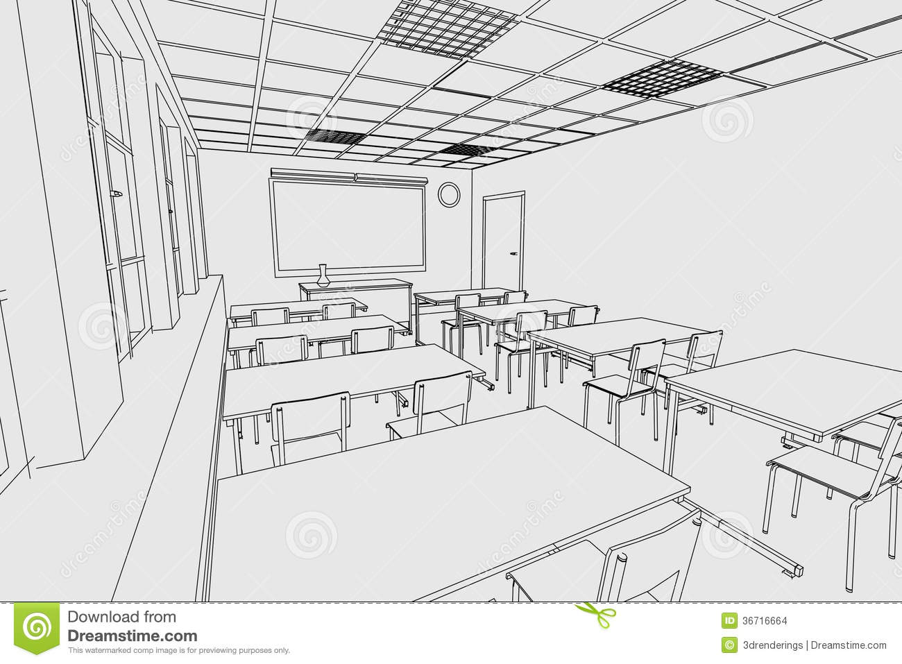 Classroom Decor Black And White ~ Image of classroom interior stock images