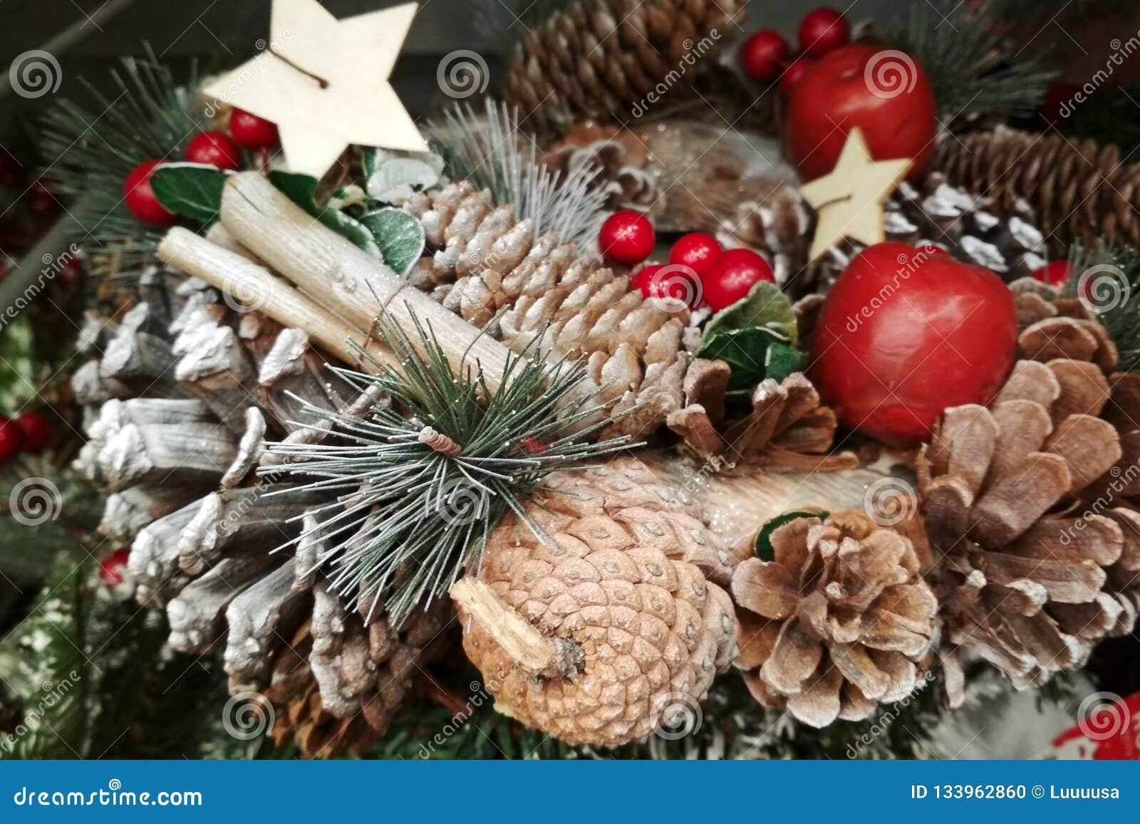 Image Colorée De Plan Rapproché De Décoration De Noël Bâtons