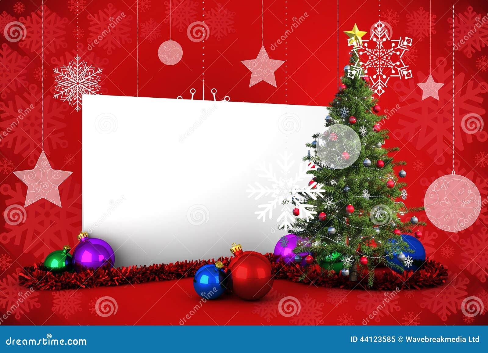 affiche de noel Image Composée D'affiche Avec L'arbre De Noël Illustration Stock  affiche de noel